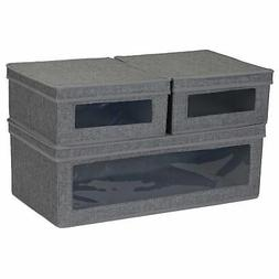 Household Essentials 508-3 Vision Storage Boxes with Lid | 3