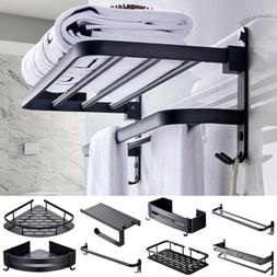 Wall Mounted Towel Rack Bathroom Hotel Rail Holder Storage S