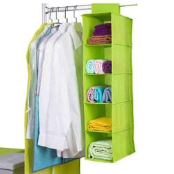 Wardrobe Storage Bag 5 Drawer Box Hanging Clothes Holder Rac