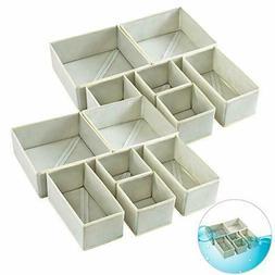 Qozary Washable Foldable Drawer Organizer, Cloth Storage Box