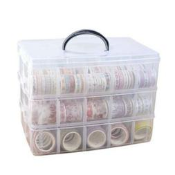 Washi Craft & Sewing Supplies Storage Tape Holder Box Organi