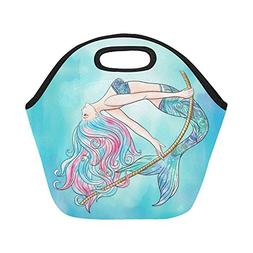 InterestPrint Watercolor Ocean Mermaid Rope Reusable Insulat
