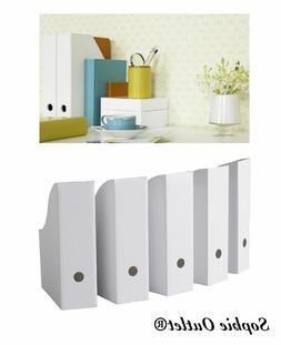 Ikea White Magazine FLUNS File Holder Organizer Paper Book S