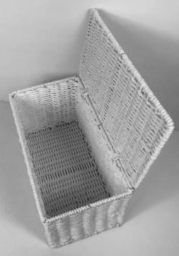 Household Essentials White Paper Rope Storage Box, NEW