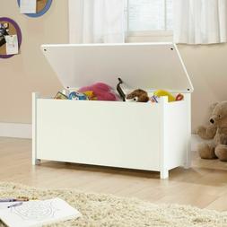 White Toy Storage Box Chest Bin Large Organizer Kids Bedroom