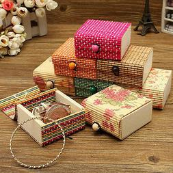 Wholesale Bamboo Wooden Jewelry Organizer Storage Box Strap