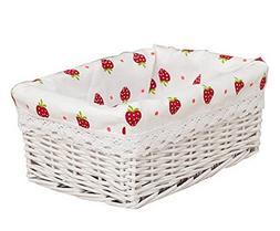 Wicker Basket Food Storage Basket Cosmetic Storage Basket WH