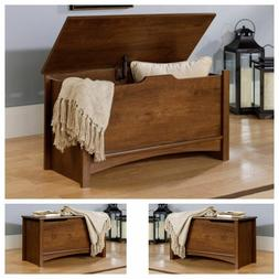 Wood Storage Chest Bench Trunk Wooden Clothes Quilt Toy Box