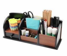wooden desk organizer office supplies accessories storage