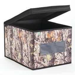 InterDesign Woodland Camouflage Fabric Closet Storage Box Or
