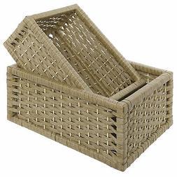 Woven Design Nesting Nursery Baskets, Storage Organizer Box