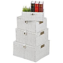 go2buy Woven Nesting Storage Baskets Multipurpose Laundry Or