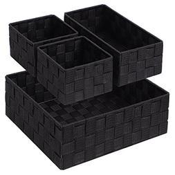 Woven Storage Box Cube Basket Bin Container Tote Organizer D
