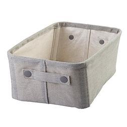 InterDesign Wren Cotton Fabric Bathroom Storage Bin for Maga